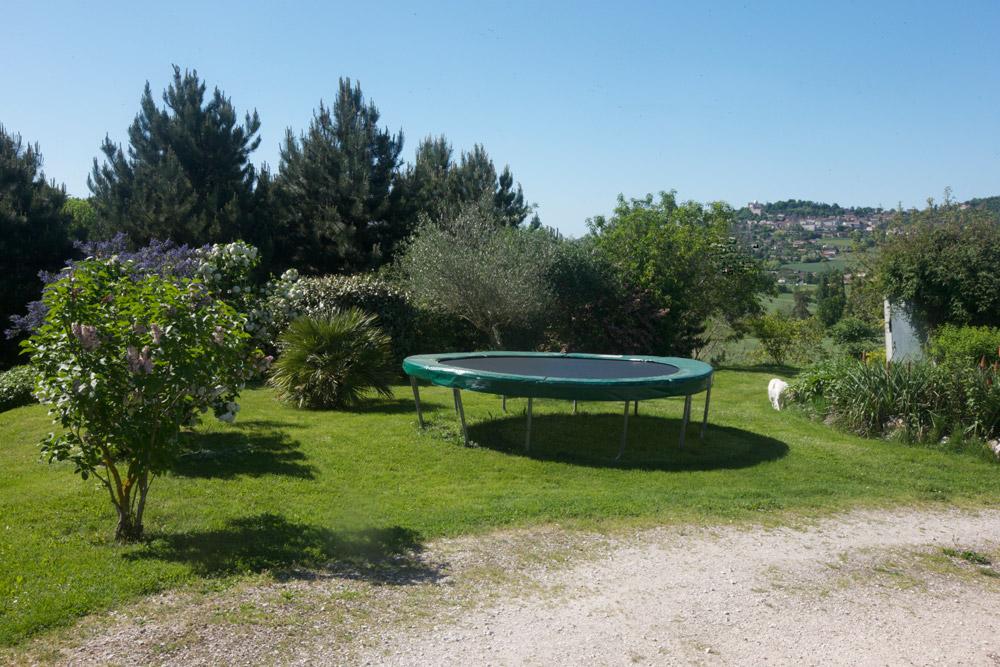 gîte Norpech trampoline